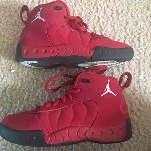 Boys Jordan's size 11 (toddler/youth) red